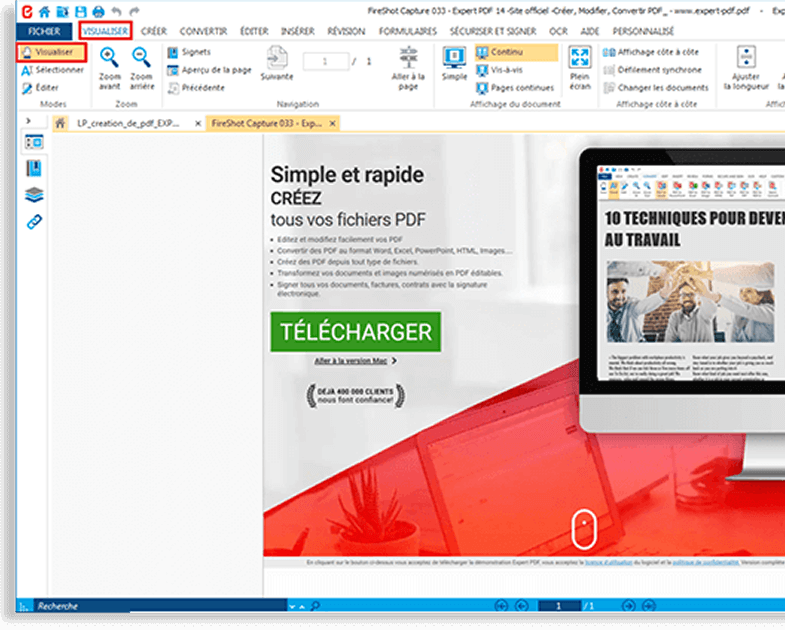 Preview PDF files before converting....