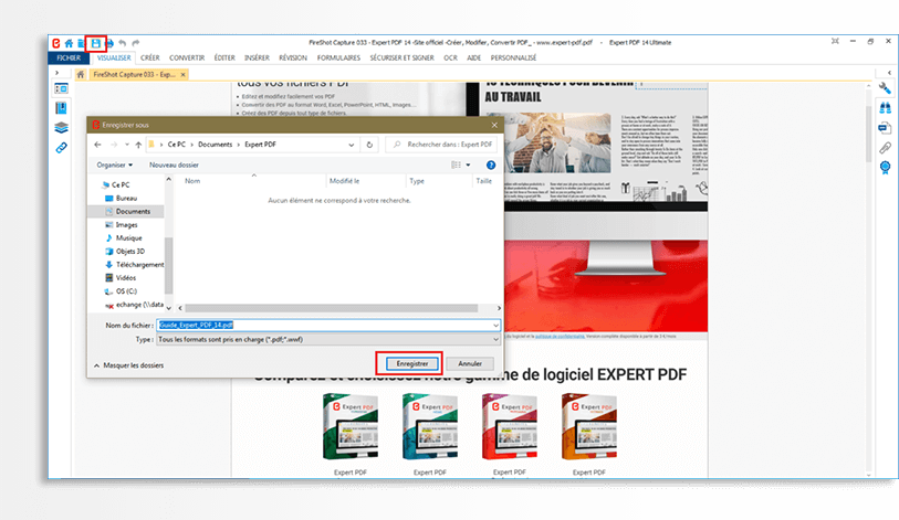 Give your new PDF file a name and save it wherever you like. You can also share it directly via email from the application.