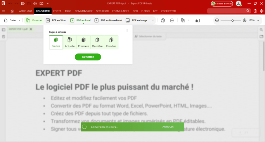 Why convert a PDF file to an EXCEL file (xlsx)?