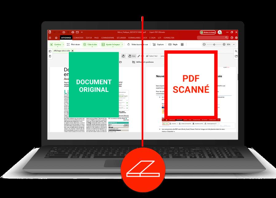 Numérisez votre document puis passez par la fonction OCR...