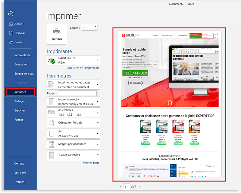 PDF-Erstellung aus einer beliebigen PC-Anwendung, mit...