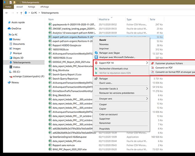 Conversión de archivos haciendo clic con el botón derecho...