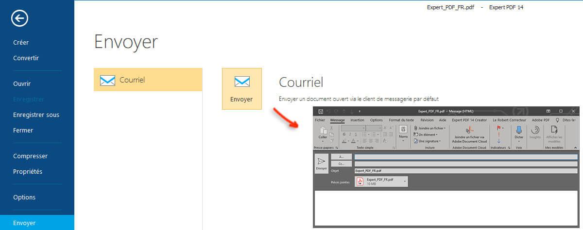 COMPRIMI I PDF E INVIALI VIA E-MAIL